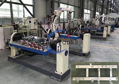 新能源汽车 铝电池托架 机器人焊接生产线