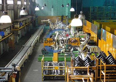 搬运车车架机器人焊接搬运柔性生产线