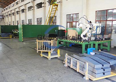 电梯钣金件机器人焊接生产线