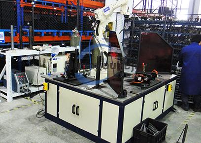 固定式叁工位 机器人焊接
