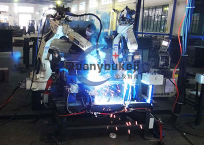 PM劈木机架 机器人焊接搬运柔性生产线